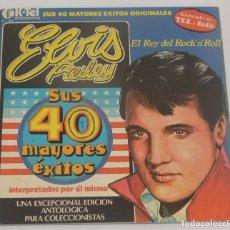 Discos de vinilo: ELVIS PRESLEY - SUS 40 MAYORES ÉXITOS - 2XLP K-TEL 1977. Lote 180161927