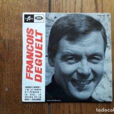 Discos de vinilo: FRANCOIS DEGUELT - JUSQU'A VENISE + J'AI LE TEMPS D'Y PENSER + LE CIEL, LE SOLEIL ET LA MER + COLOM. Lote 180166007