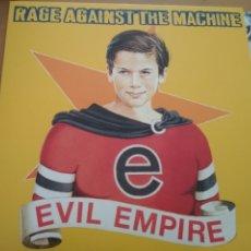 Discos de vinilo: RAGE AGAINST THE MACHINE EVIL EMPIRE LP INSERTO. Lote 189893983