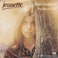 Discos de vinilo: JEANETTE - TODO ES NUEVO - SINGLE DE VINILO #. Lote 180170392