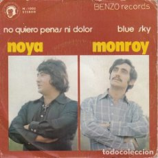 Discos de vinilo: NOYA MONROY - NO QUIERO PENAS NI DOLOR - SINGLE DE VINILO BENZO RECORDS #. Lote 180170963