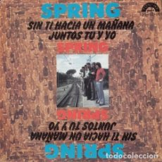 Discos de vinilo: SPRING - SIN TI HACIA UN MAÑANA - SINGLE DE VINILO FONTHY RECORDS #. Lote 180171168