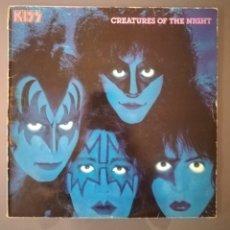 Discos de vinilo: PORTADA KISS - CRIATURES OF THE NIGHT, TAL Y COMO SE VE. Lote 180173463