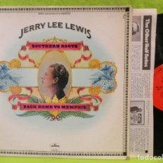 Discos de vinilo: JERRY LEE LEWIS / KEEPS ROCKIN 1978 !! RARO OFICIAL LP ! !! BLUE SUEDE SHOES,ORG EDT USA !! TODO EXC. Lote 180175125