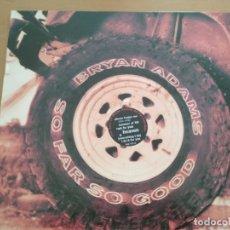 Discos de vinilo: BRYAN ADAMS SO FAR SO GOOD 2XLPS CON INSERTO SPAIN 1993. Lote 180176035