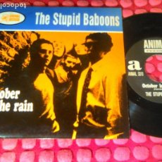 Discos de vinilo: THE STUPID BABOONS OCTOBER IN THE RAIN SPAIN 1994 SINGLE. Lote 180176345