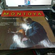 Discos de vinilo: CARLOS MONTOYA LP FLAMENCO GUITAR INGLATERRA 1965. Lote 180180202
