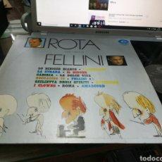 Discos de vinilo: ROTA TUTTI I FILM DI FELLINI LP ITALIA 1973. Lote 180181313