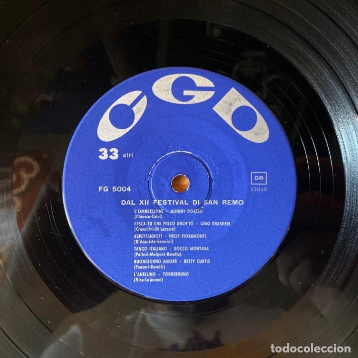 Discos de vinilo: San Remo 62: Betty Curtis, Johnny Dorelli,Gino Bramieri, Nelly Fioramonti, Torrebruno Rocco Montana - Foto 3 - 180188173