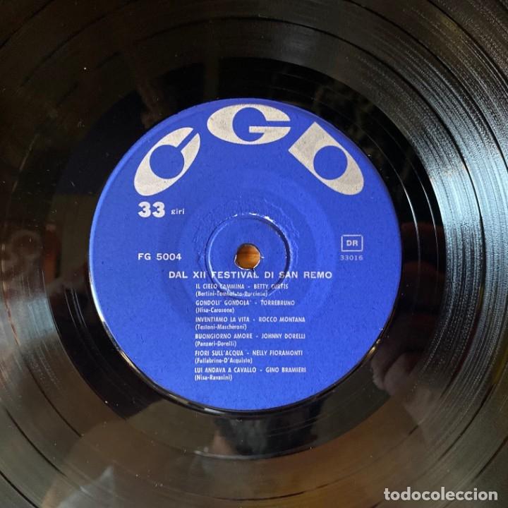 Discos de vinilo: San Remo 62: Betty Curtis, Johnny Dorelli,Gino Bramieri, Nelly Fioramonti, Torrebruno Rocco Montana - Foto 4 - 180188173