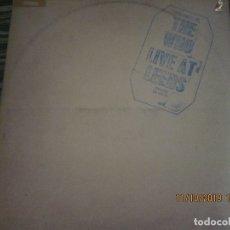 Discos de vinilo: THE WHO - LIVE AT LEEDS LP - ORIGINAL U.S.A. - DECCA RECORDS 1970 - GATEFOLD COVER -. Lote 180191348