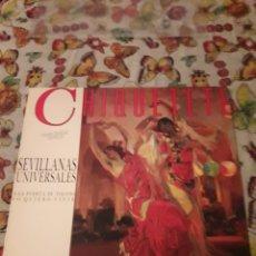 Discos de vinilo: CHIQUETETE. SEVILLANAS UNIVERSALES Y ROCIERAS. EDICIÓN RCA DE 1988.. Lote 180199072