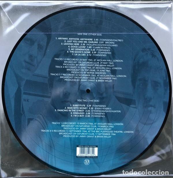 Discos de vinilo: THE WHO * LP VINILO PICTURE DISC * Anyway, Anyhow, Anywhere 1965-1966 * Rare * Mono * Nuevo - Foto 2 - 180199596