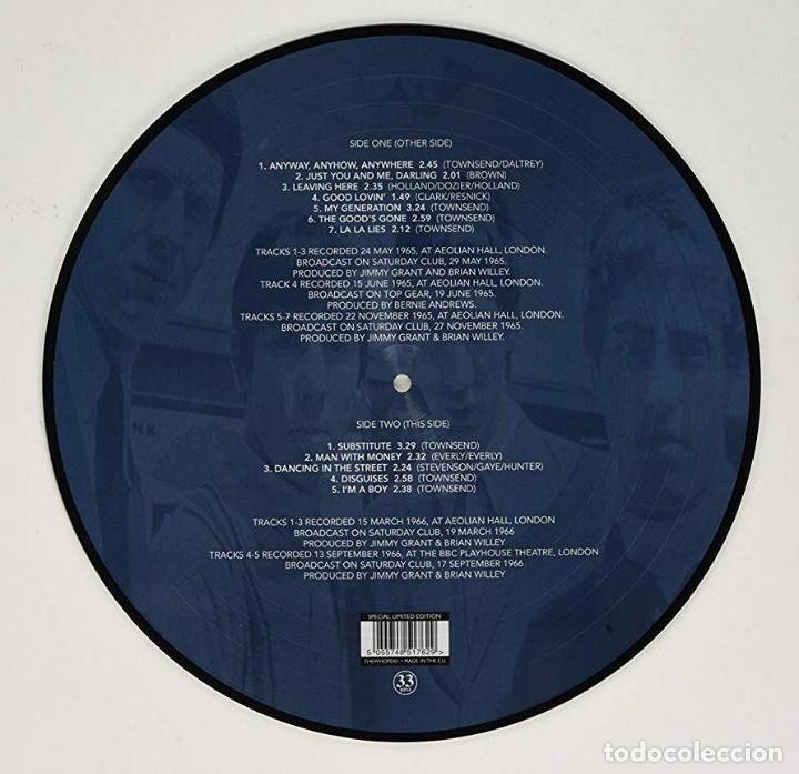 Discos de vinilo: THE WHO * LP VINILO PICTURE DISC * Anyway, Anyhow, Anywhere 1965-1966 * Rare * Mono * Nuevo - Foto 4 - 180199596