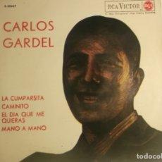 Discos de vinilo: CARLOS GARDEL-LA CUMPARSITA. Lote 180202075