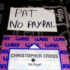 Disques de vinyle: CHRISTOPHER CROSS ALL RIGHT WES. Lote 180204951