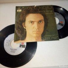Discos de vinilo: CAMILO SESTO AMOR AMAR/ ALGO DE MI. Lote 180220271