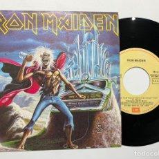 Discos de vinilo: SINGLE EP VINILO IRON MAIDEN IRON MAIDEN RUN TO THE HILLS ( LIVE ) EDICION ESPAÑOLA DE 1986. Lote 180224775