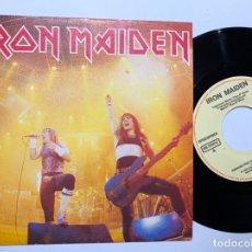 Discos de vinilo: SINGLE EP VINILO IRON MAIDEN IRON MAIDEN RUNNING FREE ( LIVE ) EDICION ESPAÑOLA DE 1985. Lote 180224920