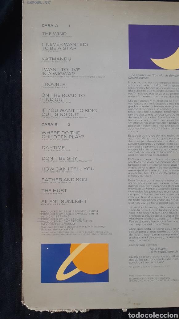 Discos de vinilo: LP. CAT STEVENS. FOOTSTEPS IN THE DARK. 1984. - Foto 3 - 180225907