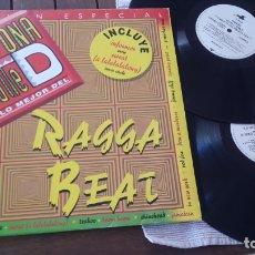 Discos de vinilo: RAGGA BEAT 2 LP ZONA D BAILE MADE IN SPAIN 1983 RECOPILATORIO REGGAE. BEACH MUSIC. Lote 180236191