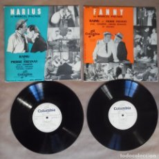 Discos de vinilo: PAGNOL: MARIUS + FANNY. 2 VINILOS EP 33 RPM LAS DOS OBRAS DE MARCEL PAGNOL VERSIÓN TEATRO EN DISCO. Lote 180244626