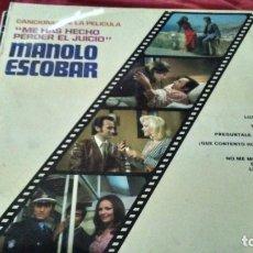 Discos de vinilo: MANOLO ESCOBAR CANCION DE PELICULA LP . Lote 180247930