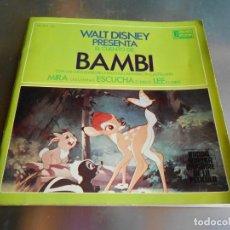 Discos de vinilo: WALT DISNEY - BAMBI-, EP, CUENTO EN CASTELLANO + 1, AÑO 1967. Lote 180248673