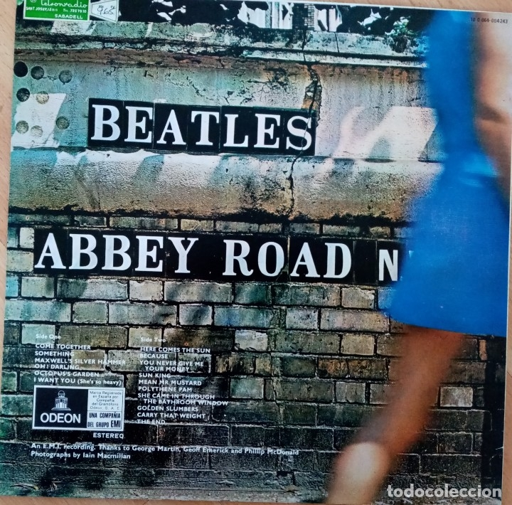 Discos de vinilo: LP THE BEATLES - ABBEY ROAD - EMI ESPAÑA AÑO 1969 - Foto 4 - 180249016