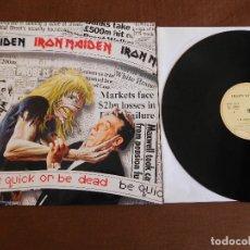 Discos de vinilo: IRON MAIDEN 12 SINGLE BE QUICK OR BE DEAD EDICIÓN ESPAÑOLA AÑO 1992. Lote 180265428