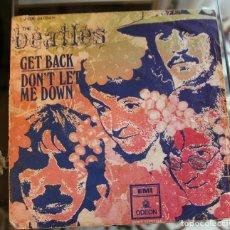 Discos de vinilo: THE BEATLES ( GET BACK / DON'T LET ME DOWN ) SINGLE ESPAÑA 1969. Lote 180266845