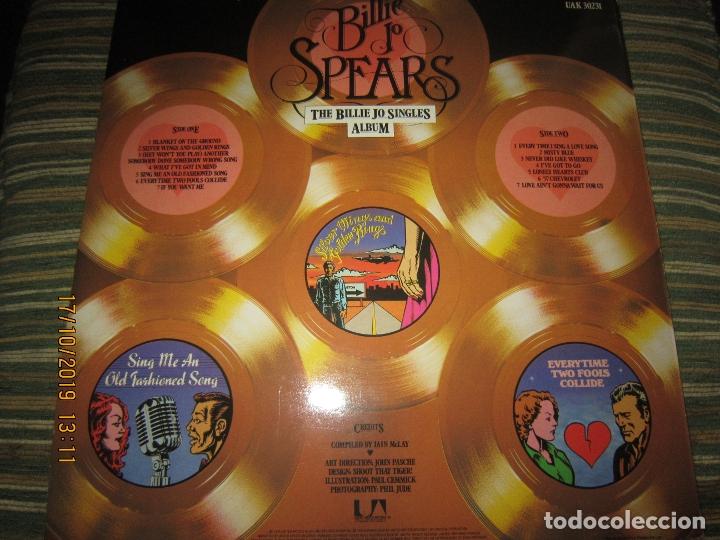 Discos de vinilo: BILLIE JO SPEARS - THE BILLIE JO SINGLES ALBUM LP - ORIGINAL INGLES - U.A. RECORDS 1979 - - Foto 2 - 180273831