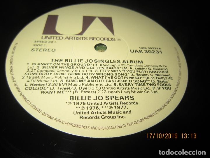 Discos de vinilo: BILLIE JO SPEARS - THE BILLIE JO SINGLES ALBUM LP - ORIGINAL INGLES - U.A. RECORDS 1979 - - Foto 11 - 180273831