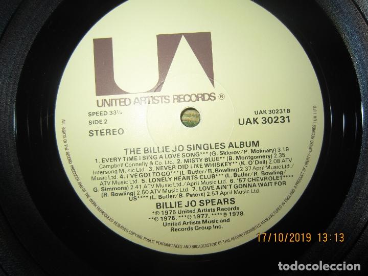 Discos de vinilo: BILLIE JO SPEARS - THE BILLIE JO SINGLES ALBUM LP - ORIGINAL INGLES - U.A. RECORDS 1979 - - Foto 15 - 180273831