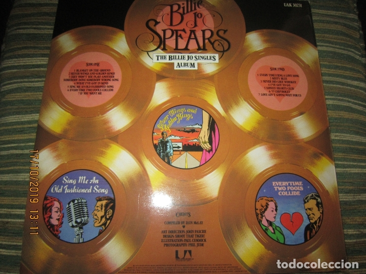 Discos de vinilo: BILLIE JO SPEARS - THE BILLIE JO SINGLES ALBUM LP - ORIGINAL INGLES - U.A. RECORDS 1979 - - Foto 17 - 180273831