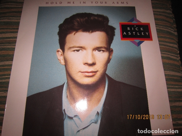 RICK ASTLEY - HOLD ME IN YOUR ARMS LP`- ORIGINAL ALEMAN - RCA 1988 MUY NUEVO CON FUNDA INT. ORIGINAL (Música - Discos - LP Vinilo - Pop - Rock - New Wave Extranjero de los 80)