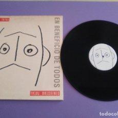 Discos de vinilo: SINIESTRO TOTAL – EN BENEFICIO DE TODOS - 1 LP + 1 SG SPAIN 1990 - DRO 4D-0725-01.. Lote 180277707