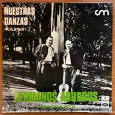 Discos de vinilo: HERMANOS ABRODOS Y SU CONJUNTO // NUESTRAS DANZAS VOLUMEN 2 / EDICIÓN ORIGINAL ARGENTINA 1969 / RARO. Lote 180278033