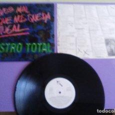 Discos de vinilo: LP ORIGINAL SINIESTRO TOTAL.MENOS MAL QUE NOS QUEDA PORTUGAL 1984 DRO 050 NEW WAVE PUNK ROCK+INSERTO. Lote 180279163