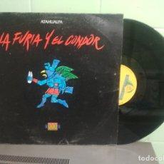 Discos de vinilo: ATAHUALPA - LA FURIA Y EL CONDOR (4 VERSIONES) - MAXISINGLE 33RPM 1990. Lote 180279961
