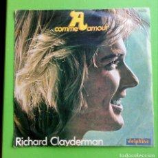 Discos de vinilo: RICHARD CLAYDERMAN.COMME AMOUR. 45RPM. Lote 180280182