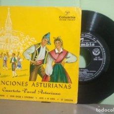 Discos de vinilo: CUARTETO VOCAL ASTURIANO - CANCIONES RODA ASTURIANA DESDE OVIEDO ADIOS A MI ALDEA EP ASTURIAS. Lote 180280702