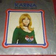 Discos de vinilo: KARI A EUROVISIÓN 71 SINGLE. Lote 180283780