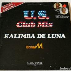 Discos de vinilo: BONEY M. - KALIMBA DE LUNA (SPECIAL EXTENDED U.S. CLUB MIX) - 1984. Lote 180284551