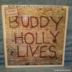 Discos de vinilo: BUDDY HOLLY & THE CRICKETS - 20 GOLDEN GREATS - LP EDITADO POR MCA EN 1978 SPAIN EXCELENTE ESTADO. Lote 180288841