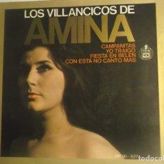 Discos de vinilo: AMINA-EP VILLANCICOS. Lote 180289010