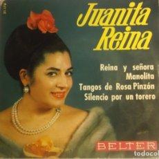 Discos de vinilo: JUANITA REINA-EP REINA Y SEÑOA. Lote 180289170