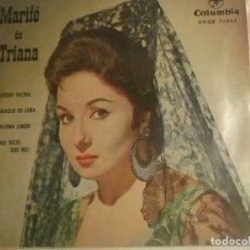 Discos de vinilo: MARIFE DE TRIANA-EP COLUMBIA. Lote 180289227