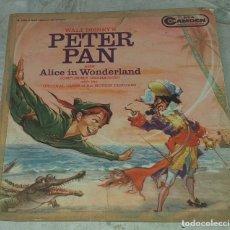 Discos de vinilo: PETER PAN / ALICE IN WONDERLAND. BOBBY DRISCOLL. DISNEY (CAMDEN 1960). Lote 180296933