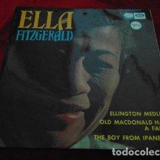 Discos de vinilo: ELLA FITZGERALD – ELLINGTON MEDLEY / OLD MACDONALD HA A FARM / THE BOY FROM IPANEMA - EP 1966. Lote 180321708